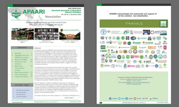 APAARI Newsletter, Vol. 29(2), December 2020