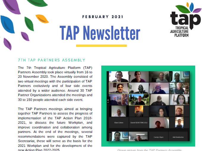 TAP Newsletter February 2021