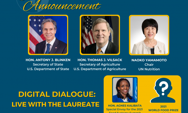2021 World Food Prize Laureate Announcement