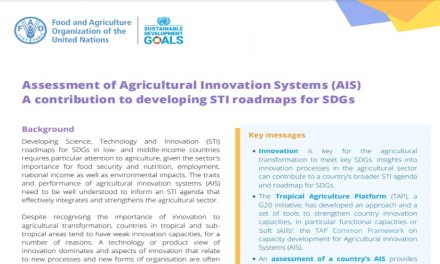Assessment of Agricultural Innovation Systems (AIS): A contribution to developing STI roadmaps for SDGs