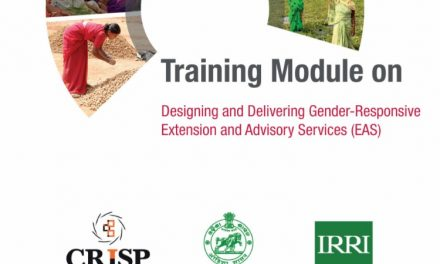 Training Module: Designing and Delivering Gender Responsive Extension and Advisory Services