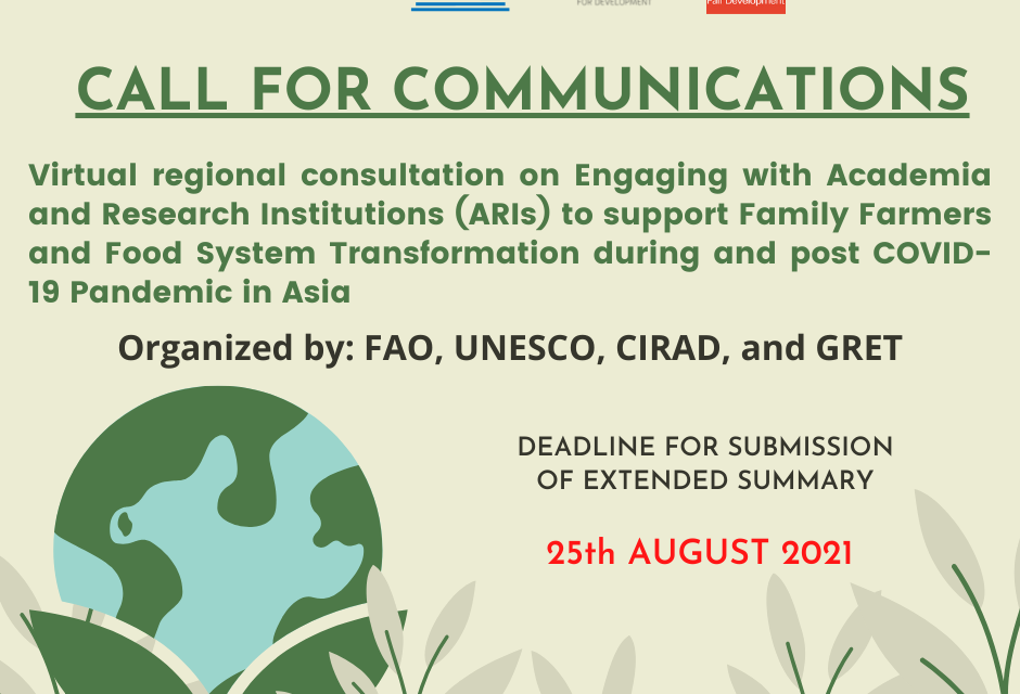 Call for Communications: Regional Consultation on Engaging with Academia and Research Institutions (ARIs)