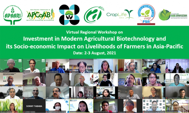 Online Workshop (APCoAB) – Regional Workshop on Investment in Modern Agricultural Biotechnology and its Socio-economic Impact on Livelihoods of Farmers in Asia-Pacific