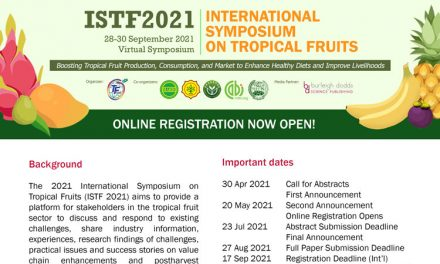 Virtual International Symposium on Tropical Fruits 2021 (ISTF 2021) – 28th – 30th September 2021