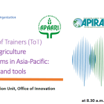 Virtual Training of Trainers (ToT) Strengthening Agriculture Innovation Systems in Asia-Pacific: TAP approaches and tools